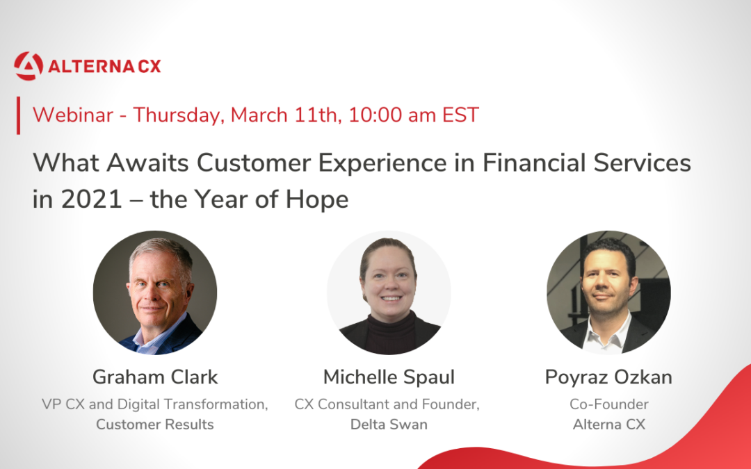 What Awaits Customer Experience in Financial Services in 2021 – the year of hope?